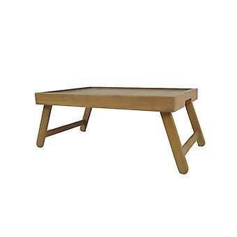 Pinguin Home Bett Tablett Tisch mit Beinen-Crafted aus massivem Hartholz