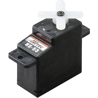 Hitec Mini servo Analogue servo Gear box material: Plastic Connector system: JR