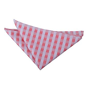 Pastel controleren koraal zakdoek / Pocket Square