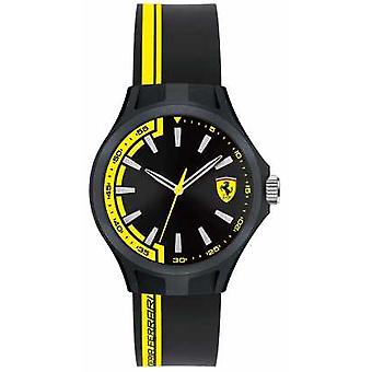 Scuderia Ferrari Mens Pit Crew Black Rubber Strap Black Dial Black Case 0840012 Watch