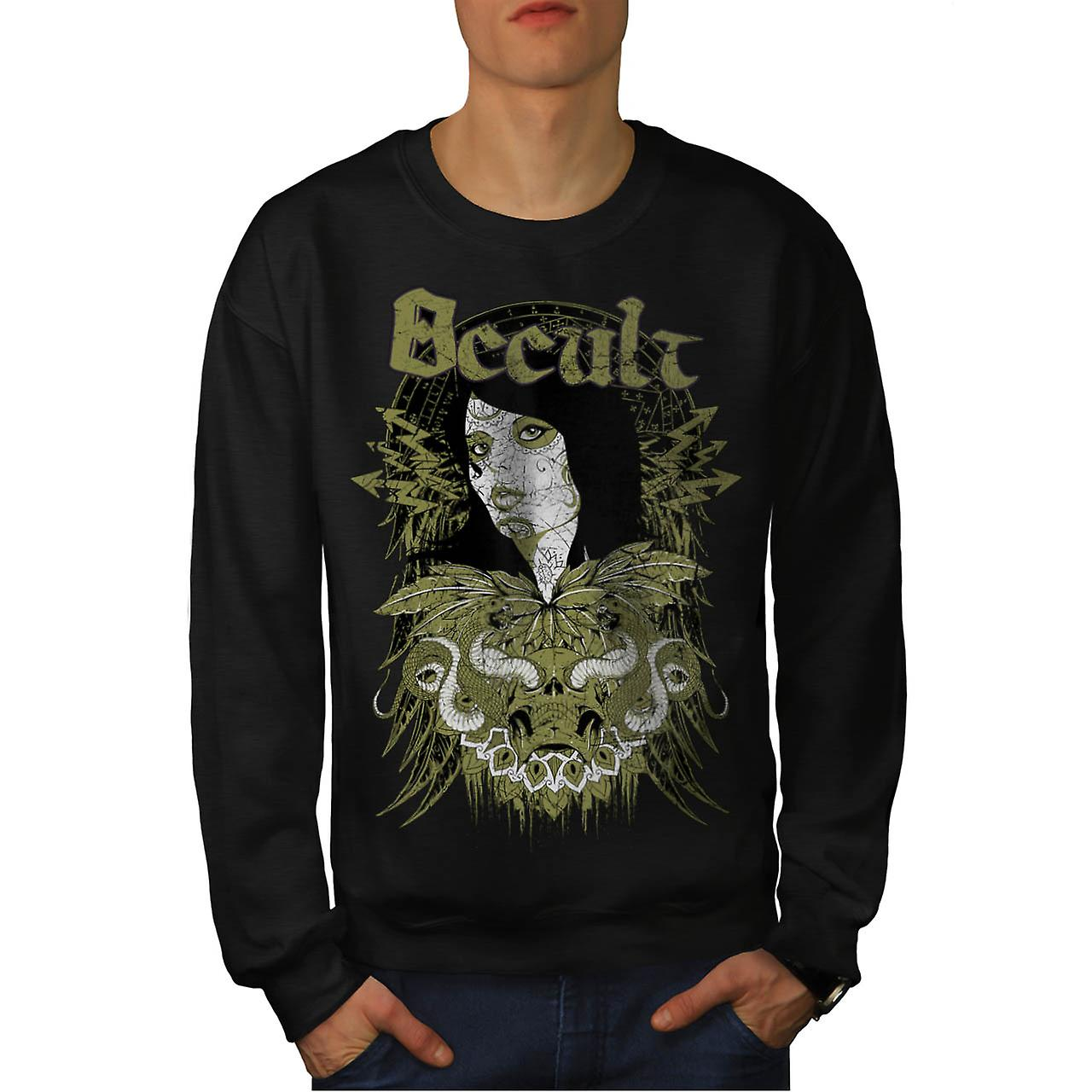 Occulte Cult Lady meisje Pout Model mannen zwart Sweatshirt | Wellcoda