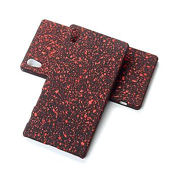 Cell phone cover case bumper shell for Sony Xperia Z5 3D stars red