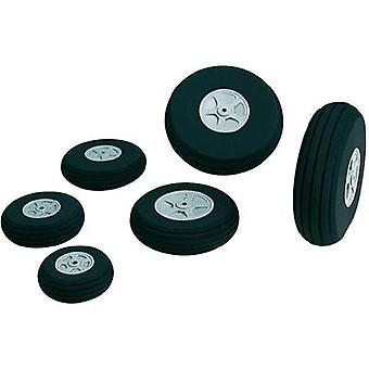 Model airplane foam rubber wheels + tread Kavan 63 mm 1 pair