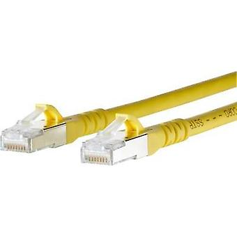 RJ49 Networks Cable CAT 6A S/FTP 1 m Yellow incl. detent Metz Connect