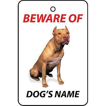 Personalised American Pit Bull Terrier Dog Car Air Freshener