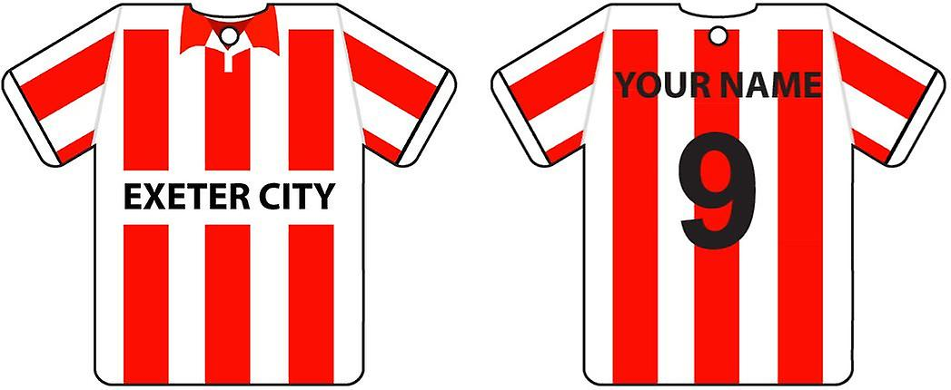 Personalised Exeter City Football Shirt Car Air Freshener
