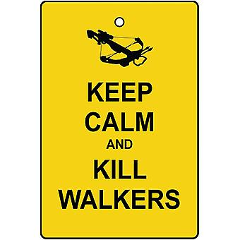 Keep Calm And Kill Walkers Car Air Freshener