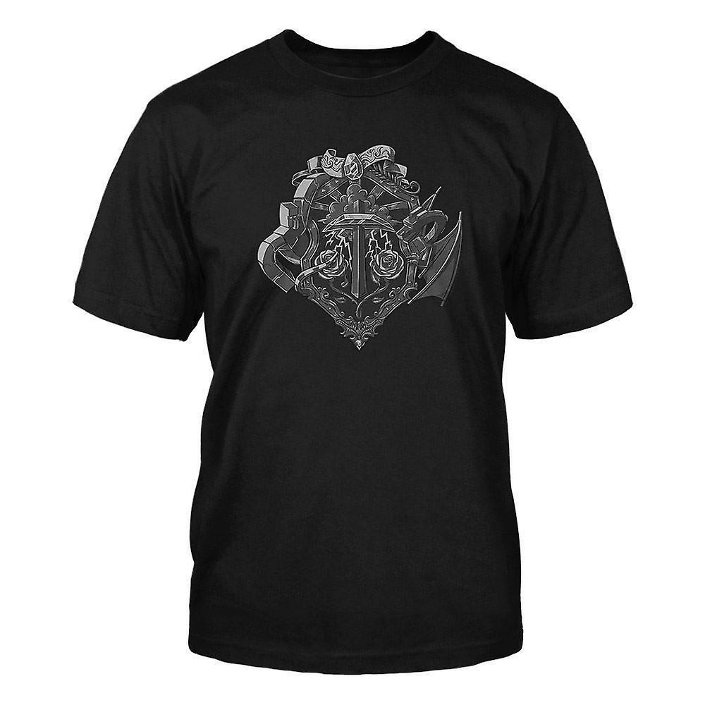 Boys Minecraft T-shirt   Mine Craft Tshirt   Official   HEROES CREST   Youth   M   BLACK