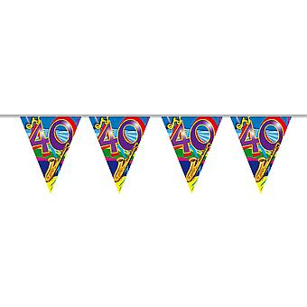 Pennant chain 10 m Garland 40 birthday decoration party music scene