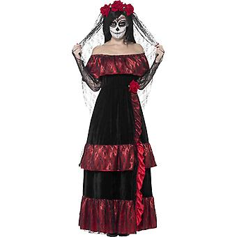 Gothic bride costume skull Lady dress ladies