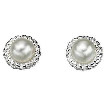 925 orecchino di perla d'argento
