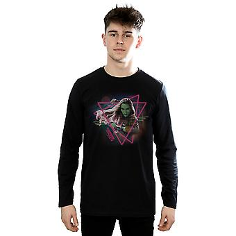 Marvel mannen hoeders van de Galaxy Neon Gamora lange mouwen T-Shirt