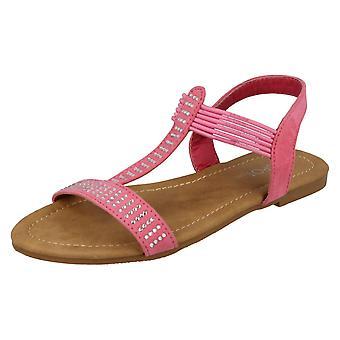 Girls Spot On Slip-On Casual Sandals