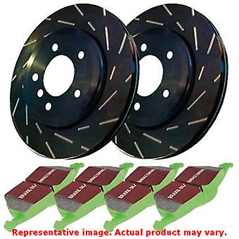 EBC Brake Kit - S2 Greentuff 2000 and USR Rotors S2KR1651 Fits:MINI  2007 - 200