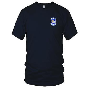 USAF Airforce - 17e Airlift Squadron geborduurd Patch - Mens T Shirt