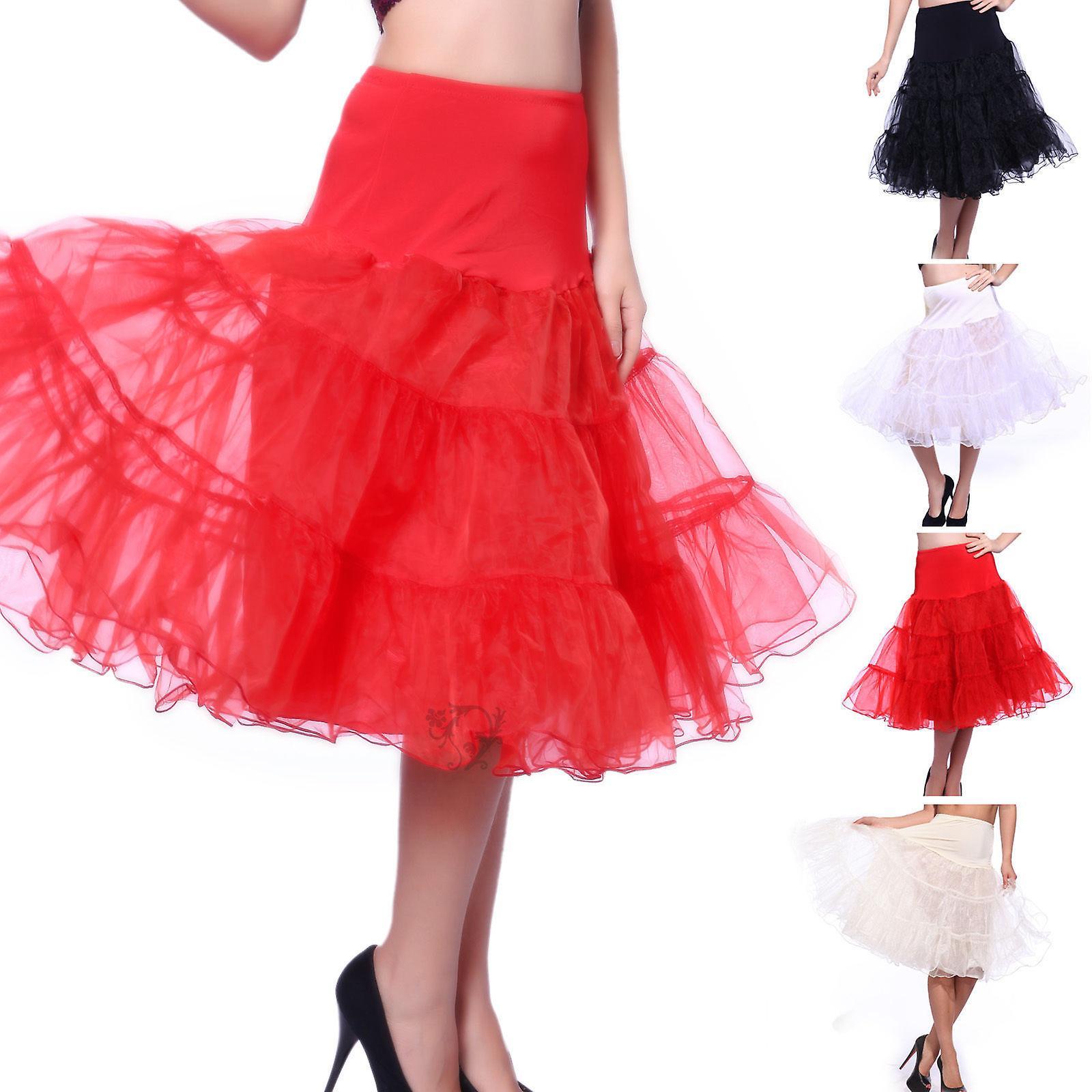 7ded9ac99245 27-tums retro underkjol 50s Swing Vintage underkjol Rockabilly Tutu Fancy  netto kjol