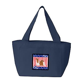 Carolines Treasures  BB3346NA-8808 USA Patriotic Shih Tzu Lunch Bag