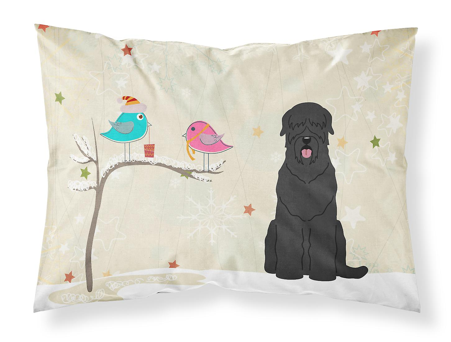 Cadeaux Terrier Noël De Amis Tissu Russe Pillowc Noir Standard Entre EHeDY9IW2