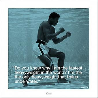 Muhammad Ali - iQuote - Underwater Poster Poster Print