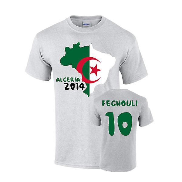 Camiseta de bandera de país Argelia 2014 (feghouli 10)