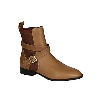 Chloé women's CH25210 brown leather ankle boots