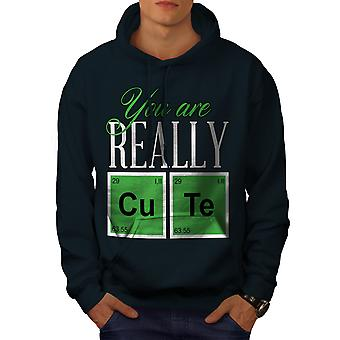 Cute Chemistry Geek Men NavyHoodie | Wellcoda