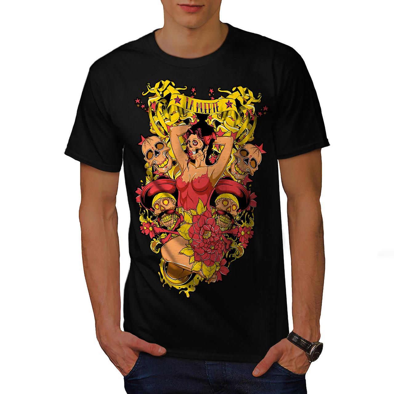 La Muerte Sexy Hot Zombie Men Black T-shirt | Wellcoda