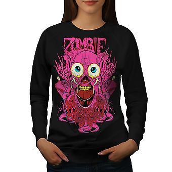 Guts Horror Creepy Women BlackSweatshirt | Wellcoda