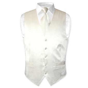 Biagio Men's SILK Dress Vest & Neck Tie Set