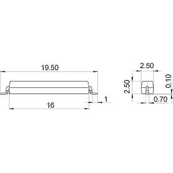 SMD reed switch 1 maker 180 Vdc, 180 Vac 0.5 A 10 W