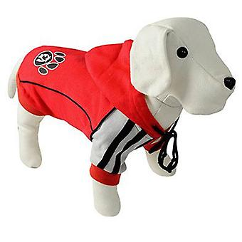 Nayeco Red Dog Hooded Footprint 80 cm (Dogs , Dog Clothes , Sweaters and hoodies)