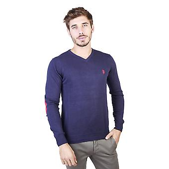 U.S. Polo Men Sweaters Blue
