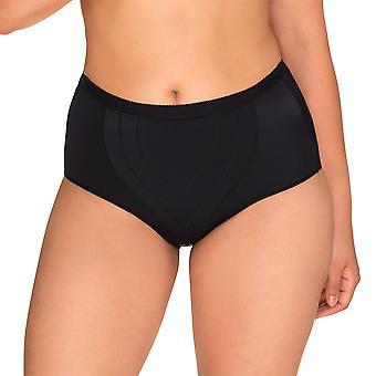 Женщин УКП 1538-Noir идеально Поднимите черный фирма/средний уровень управления для похудения, формирование высокой талией краткие