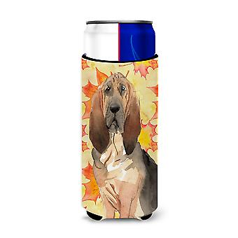 Fall Leaves Bloodhound Michelob Ultra Hugger for slim cans