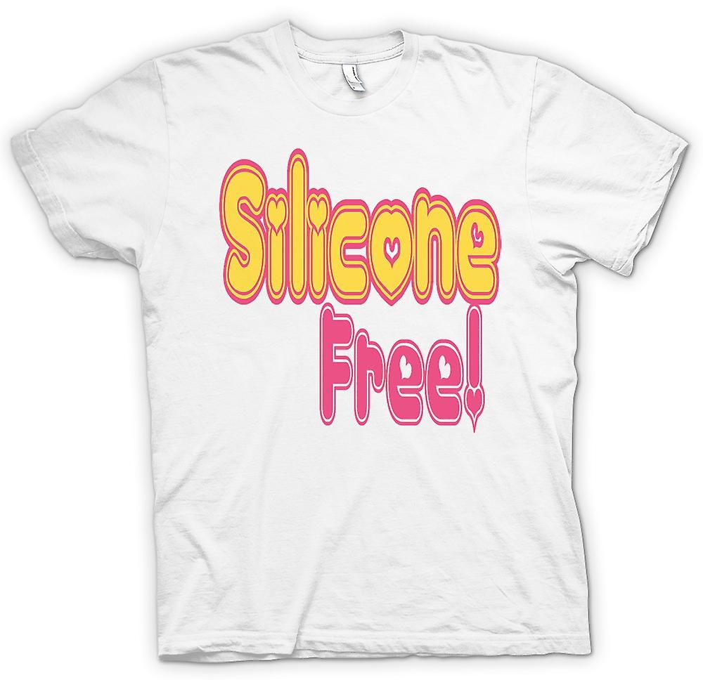 Mens T-shirt - Silicone Free! No Breast Implants - Quote