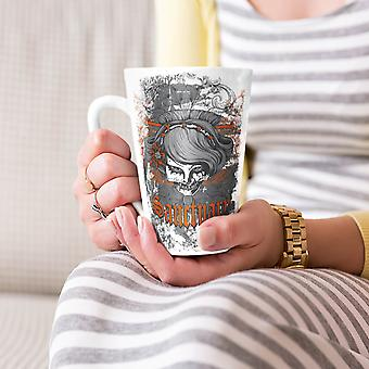 Orange Death Skull NEW White Tea Coffee Ceramic Latte Mug 17 oz | Wellcoda