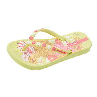 Girls Ipanema Flip Flops Anatomica Lovely Kids Sandals - Lemon