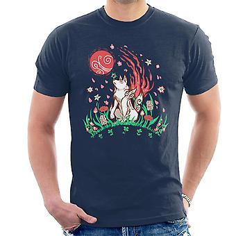 Okami Wolf Blossom Breeze Men's T-Shirt