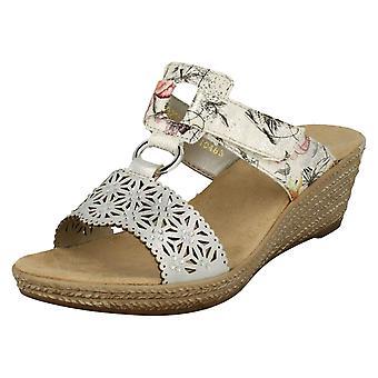 Ladies Rieker Slip On Mule Sandals 62427-80 - Multi Synthetic - UK Size 5 - EU Size 38 - US Size 7
