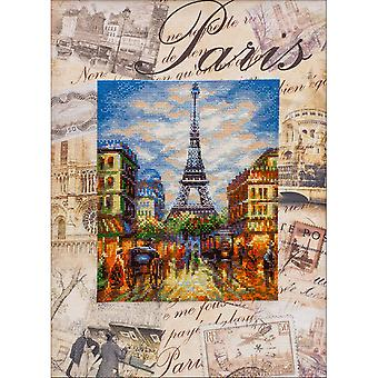 Cities Of The World: Paris Counted Cross Stitch Kit-11.75