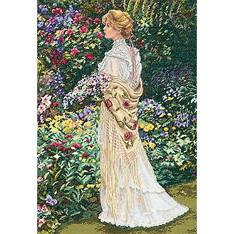 Gold Collection In Her Garden Counted Cross Stitch Kit-11