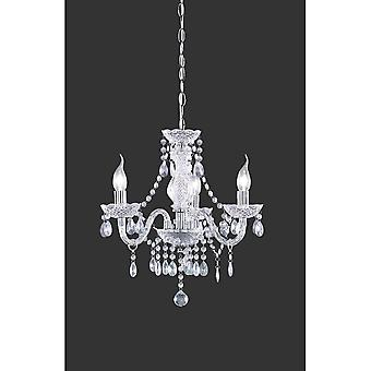 Trio Lighting Lüster Classic Transparent Clear Acryl Chandelier
