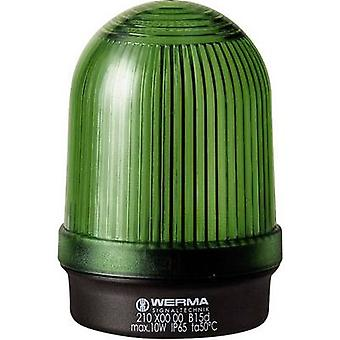 光 Werma Signaltechnik 210.200.00 緑ノンストップ光信号 12 V AC、12 Vdc、24 V AC、24 Vdc、48 V AC、48 Vdc、110 V AC、230 V AC