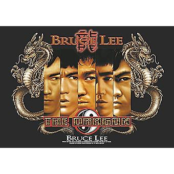 Bruce Lee Splitting Images Large Fabric Poster / Flag 1100Mm X 750Mm