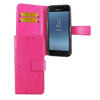 Protective cover flowers for mobile Samsung Galaxy J5 2017 pink