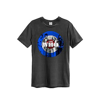 Amplified Charcoal Grey The Who Target Crew Neck T-Shirt S