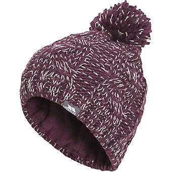 Trespass Girls Epstein Knitted Acrylic Pom Pom Warm Winter Beanie Hat