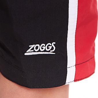Zoggs Junior Boy's Muriwai Swimming Shorts Black/Red for 6-15 Years Children