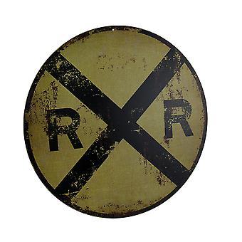 خمر إنهاء الجولة عبور السكك الحديدية RR توقيع 12 بوصة