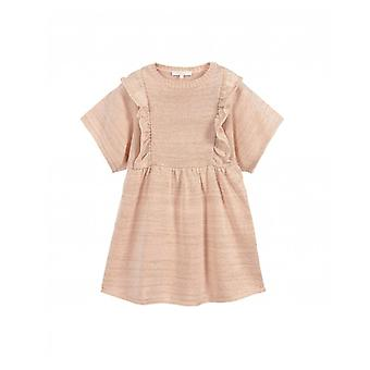Chloe Childrenswear Angel Sleeve Knitted Sparkly Dress